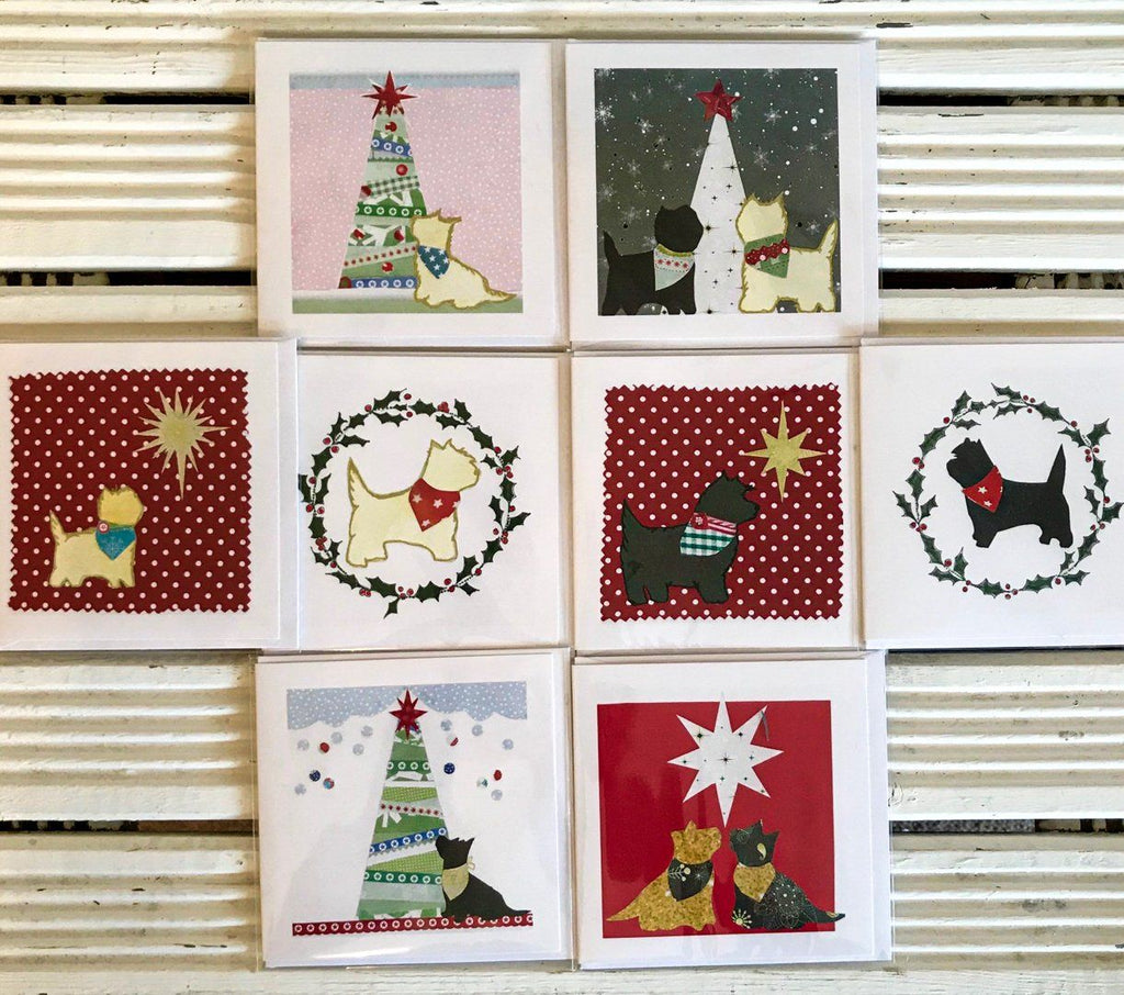 Exclusive new Cairn Terrier Christmas Greetings Card Pack  - 8 cards - Cairn Terrier Collectibles