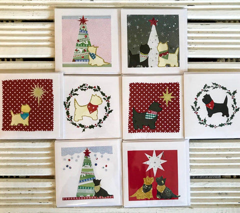 Exclusive new Cairn Terrier Christmas Greetings Card Pack  - 8 cards