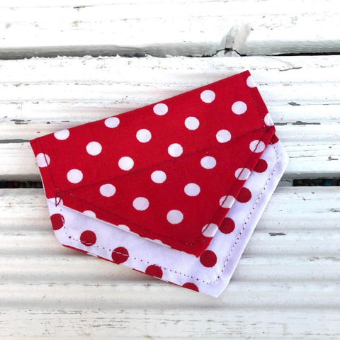 Polka Dotty Puppy Bandana - Slip-on, double layer (Small)