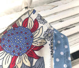 Sunflower Blues Bandana - Slip-on, double layer (Medium) - Cairn Terrier Collectibles