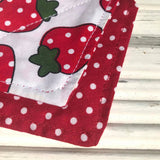Strawberry Fields Puppy Bandana - Slip-on, double layer (Small) - Cairn Terrier Collectibles