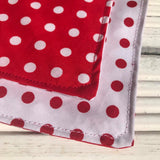 Polka Dotty Bandana - Slip-on, double layer (Medium) - Cairn Terrier Collectibles