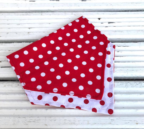 Polka Dotty Bandana - Slip-on, double layer (Medium)