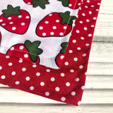 Strawberry Fields Big Dog Bandana - Slip-on, double layer (Large) - Cairn Terrier Collectibles