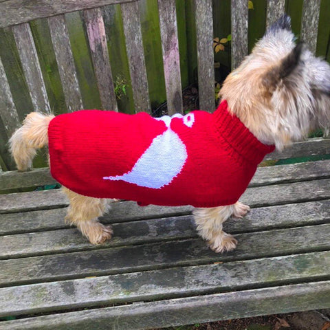 Dog Coat Little Angel Design (Wool)