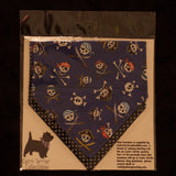 Blue Pirate Bandana - Slip-on, double layer (Medium) - Cairn Terrier Collectibles