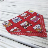 Big Red Camper Bandana - Slip-on, double layer (Medium) - Cairn Terrier Collectibles