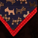 Blue Terrierist Bandana - Slip-on, double layer (Medium) - Cairn Terrier Collectibles - 6