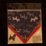 Blue Terrierist Bandana - Slip-on, double layer (Medium) - Cairn Terrier Collectibles - 2
