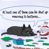 Remove the batteries Cairn Terrier Christmas Greetings Card - Cairn Terrier Collectibles