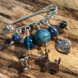 Kilt pin brooch (Singing the Blues) - Cairn Terrier Collectibles