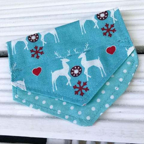 Winter Wonderland Puppy Bandana - Slip-on, double layer (Small)