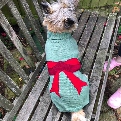 Dog Coat Bows and Ribbons Design (Wool)