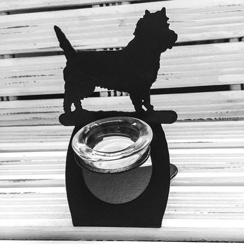 Cairn Terrier Twilight tea light holder