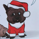 Dignity or Christmas dinner Cairn Terrier Christmas Greetings Card - Cairn Terrier Collectibles