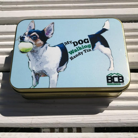 Handy dog walking tin