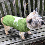 Dog Coat Christmas star Design (Wool) - Cairn Terrier Collectibles