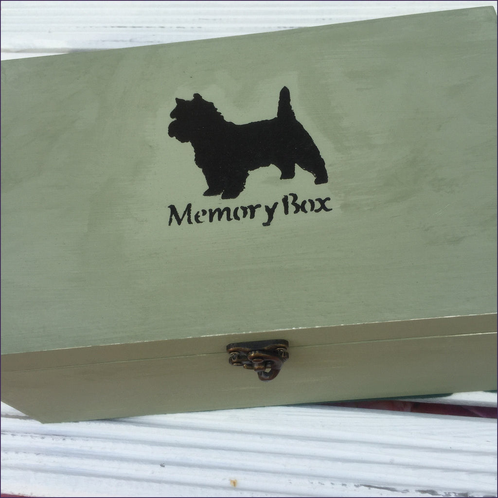 Memory Box (Green Waxed) - Cairn Terrier Collectibles