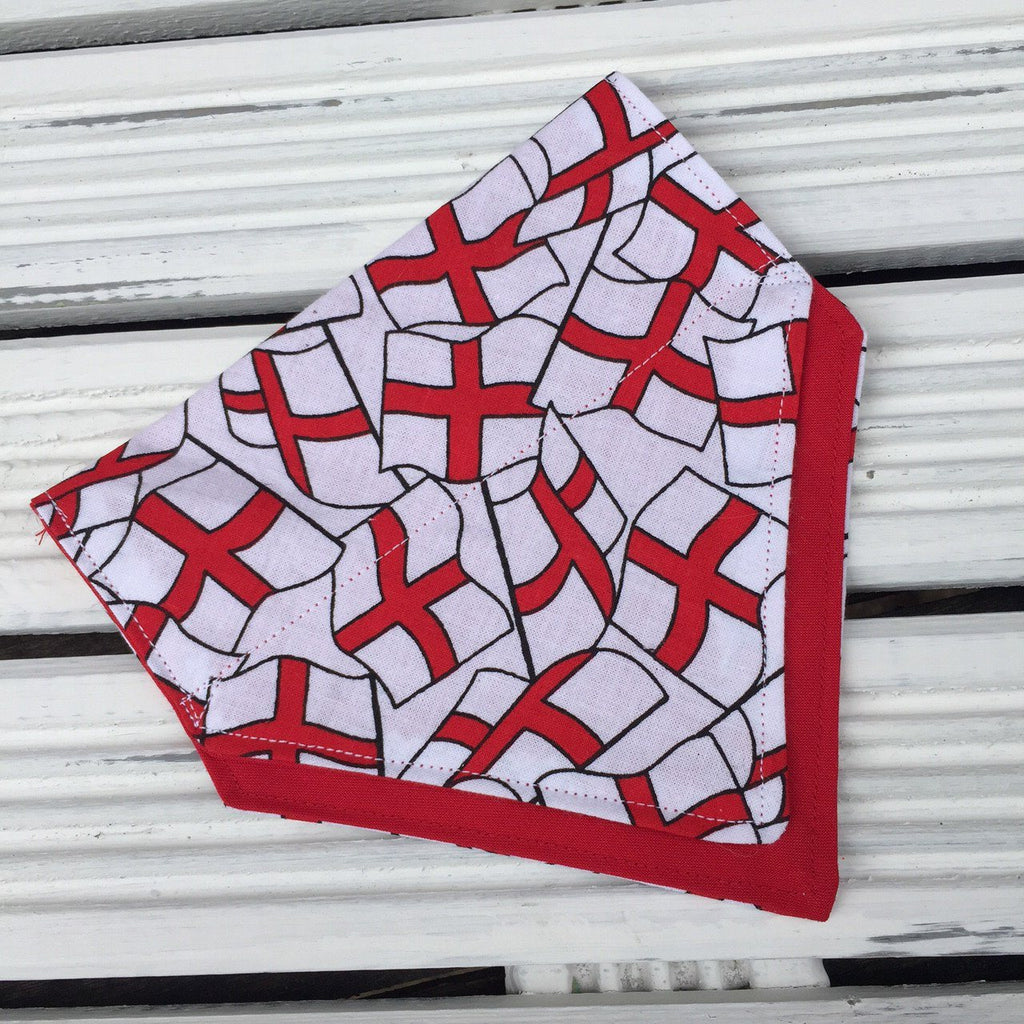 This England Bandana - Slip-on, double layer (Medium) - Cairn Terrier Collectibles