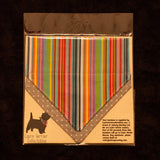 Johnny Muttley Stripe Bandana - Slip-on, double layer (Medium) - Cairn Terrier Collectibles