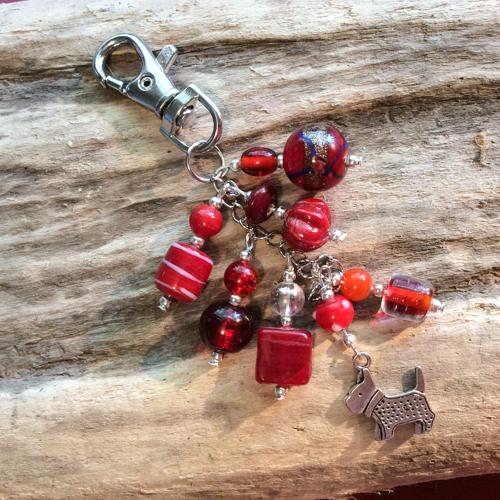 Bag Charm (Rosy Red) - Cairn Terrier Collectibles
