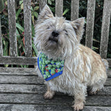 Christmas Sprout Bandana - Slip-on, double layer (Medium) - Cairn Terrier Collectibles