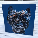 Dark Cairn Greetings card Roxy (Jo Scott) - Cairn Terrier Collectibles
