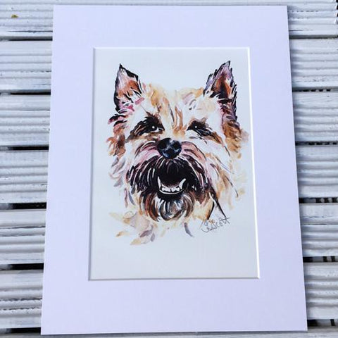 Light Cairn Terrier art print (Jo Scott)