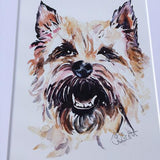 Light Cairn Terrier art print (Jo Scott) - Cairn Terrier Collectibles