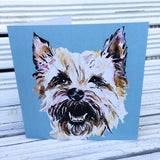 Light Cairn Greetings card Ruby (Jo Scott) - Cairn Terrier Collectibles