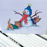 The Snowman Cairn Terrier Christmas Greetings Card - Cairn Terrier Collectibles