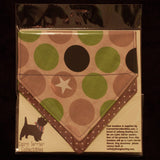 Stars and Spots Bandana - Slip-on, double layer (Medium) - Cairn Terrier Collectibles
