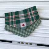 Tartan Pines Puppy Bandana - Slip-on, double layer (Small) - Cairn Terrier Collectibles