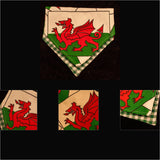 Welsh Bandana with dragon design slip-on double layer with green check (Medium) - Cairn Terrier Collectibles - 3