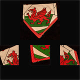 Welsh Bandana with dragon design slip-on double layer with red (Medium) - Cairn Terrier Collectibles - 3