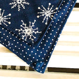 White Christmas Bandana - Slip-on, double layer (Medium) - Cairn Terrier Collectibles