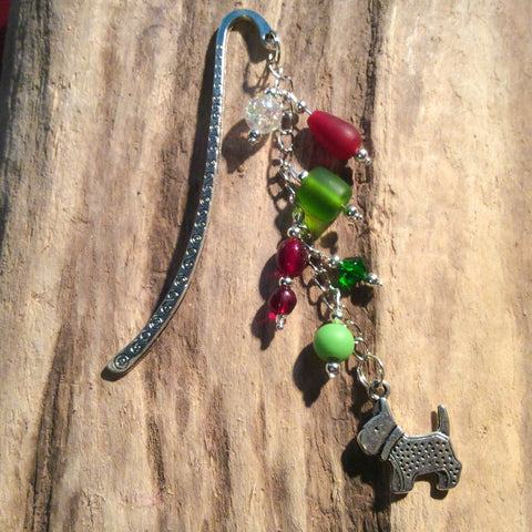 Cairn Terrier bookmark (Red and Green)