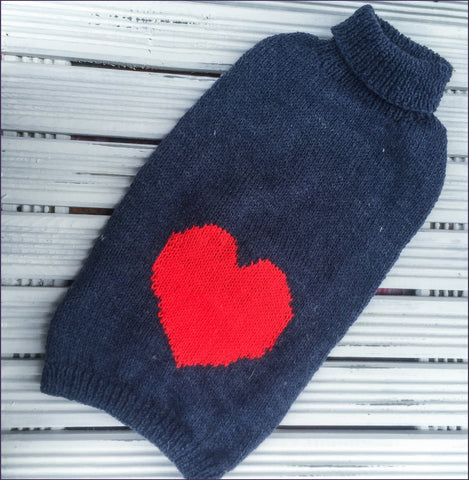 Dog Coat Love Heart Design (Wool)