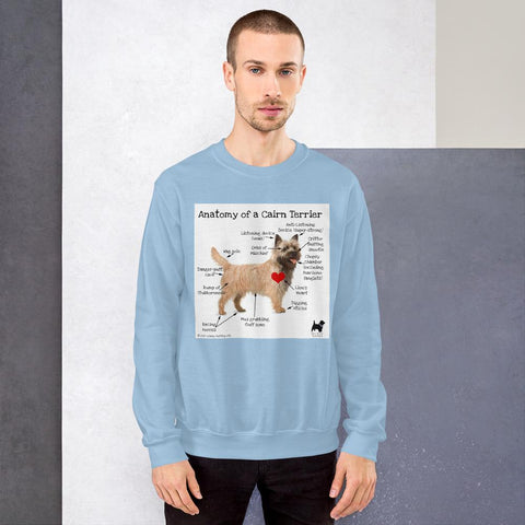 Anatomy of a Cairn Terrier Sweatshirt