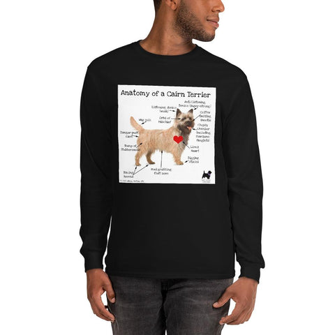 Anatomy of a Cairn Terrier Long Sleeve T-Shirt