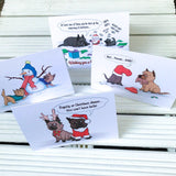 Exclusive Cairn Terrier Christmas Greetings Card Pack  - 4 cards - Cairn Terrier Collectibles
