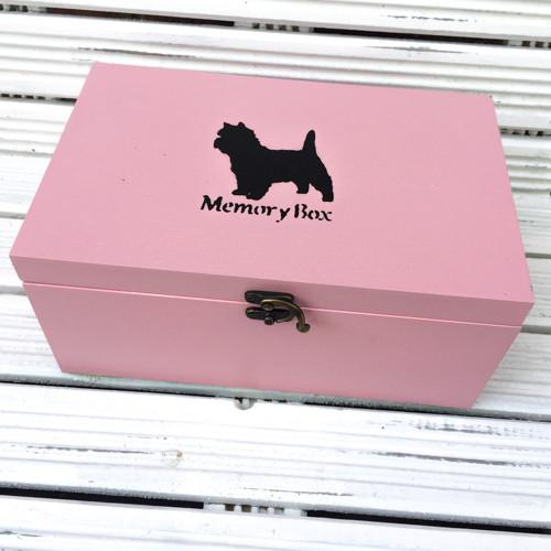 Memory Box (Dusky Pink) - Cairn Terrier Collectibles