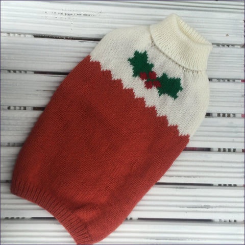 Dog Coat Christmas Pudding Design (Wool)