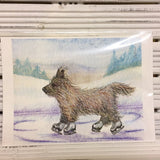 He enjoyed the wind Cairn Terrier Print (Susan Alison) - Cairn Terrier Collectibles