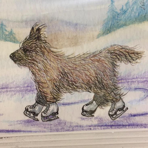 He enjoyed the wind Cairn Terrier Print (Susan Alison)
