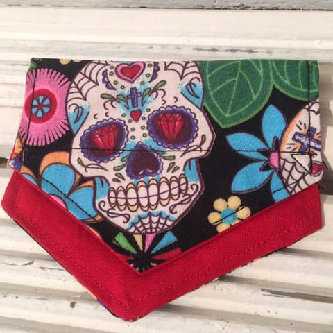 Skull Duggery Puppy Bandana - Slip-on, double layer (Small)