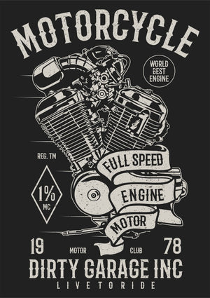 Motorcycle Full speed Engine