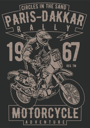 Paris Dakkar Rally Motorcycle