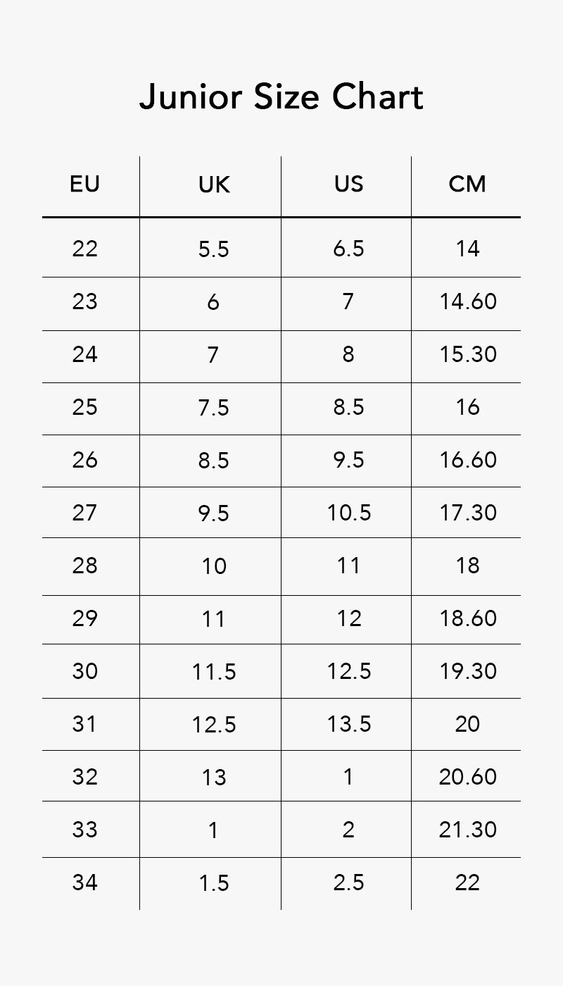 US UK Shoe Size Conversion Charts