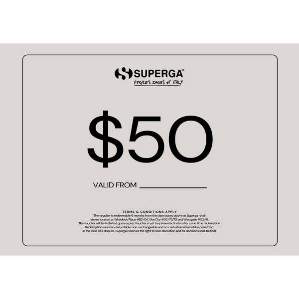 Superga $50 Gift Voucher